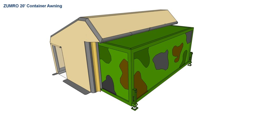 D A container 20ft awning - 2